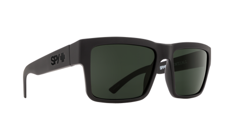Spy - Montana Soft Matte Black Eyeglasses / HD Plus Gray Green Polarized Lenses
