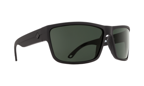 Spy - Sprinter Matte Black Ansi Rx Sunglasses / Happy Gray Green Red Flash Lenses