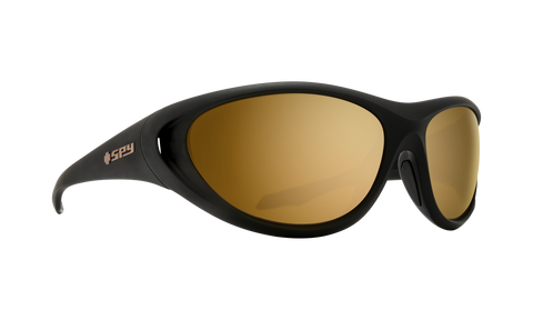 Spy - Scoop 2 65mm 25 Anniv Matte Black Gold Sunglasses / HD Plus Bronze Gold Spectra Mirror Lenses