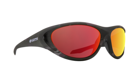 Spy - Scoop 2 65mm Matte Camo Sunglasses / HD Plus Gray Green Polarized Red Spectra Mirror Lenses