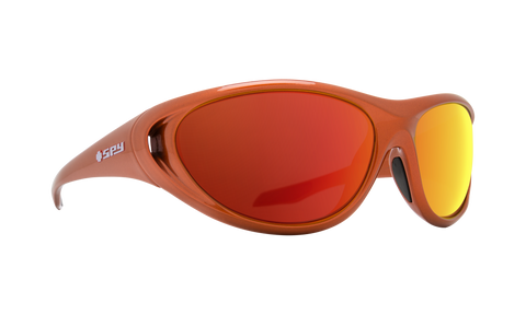 Spy - Scoop 2 65mm Metallic Orange Sunglasses / HD Plus Green Orange Spectra Mirror Lenses