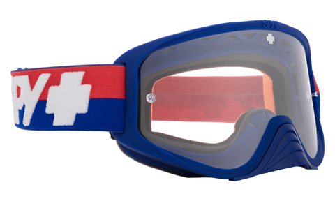 Spy - Woot Bolt USA Blue Red Snow Goggles / Clear HD Lenses
