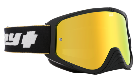 Spy - Woot Race 25 Anniv Black Gold MX Goggles / HD Bronze with Gold Spectra Mirror HD Clear Lenses