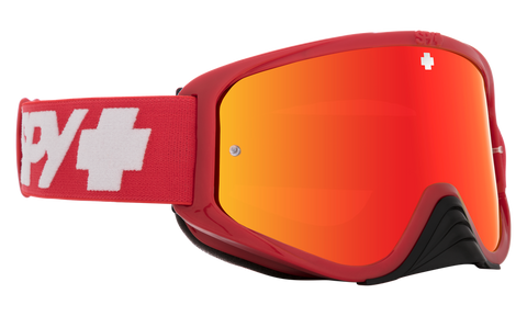 Spy - Woot Race Checkers Red MX Goggles / HD Smoke Red Spectra Mirror + HD Clear Lenses