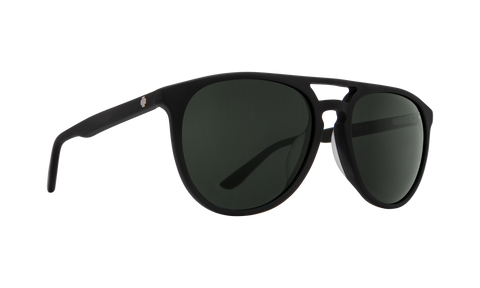 Spy - Syndicate 55mm Black Sunglasses / Happy Gray Green Polarized Lenses