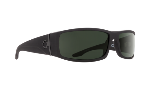 Spy - Cooper Soft Matte Black Sunglasses / Happy Gray Green Lenses