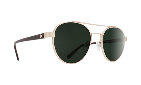 Spy - Deco Matte Gold Dark Tortoise Sunglasses / Happy Gray Green Lenses
