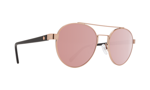 Spy - Deco Matte Black Rose Gold Sunglasses / Happy Bronze Rose Quartz Spectra Lenses