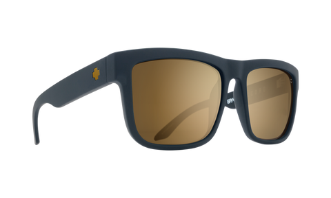 Spy - Discord Asian Fit Soft Matte Black Sunglasses / Happy Bronze Gold Mirror Lenses