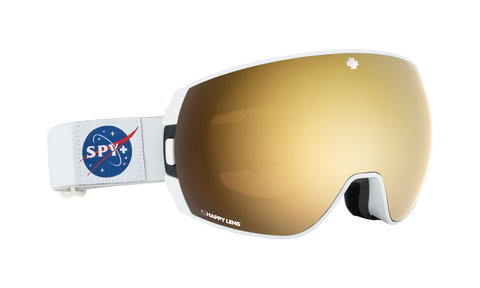 Spy - Legacy Spy Space White Snow Goggles / Happy Bronze Gold Spectra + Happy Persimmon Lucid Silver Lenses