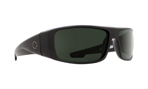 Spy - Logan Black Sunglasses / HD Plus Gray Green Polarized Lenses