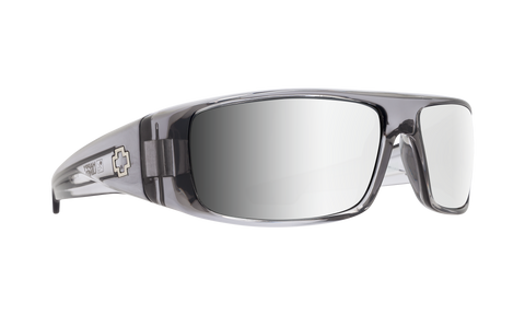 Spy - Logan Clear Smoke Sunglasses / Happy Gray Green Silver Mirror Lenses