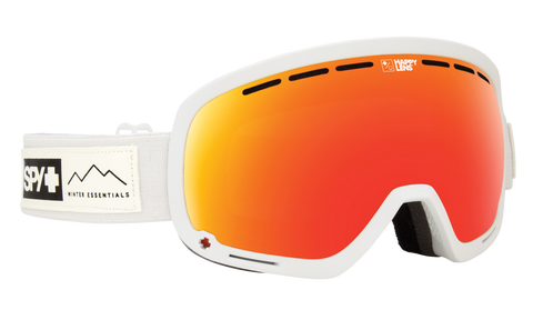 Spy - Marshall Essential White Snow Goggles / Happy Gray Green Red Spectra Happy Yellow Lucid Green Lenses