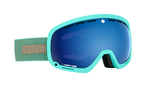 Spy - Marshall Herringbone Mint Snow Goggles / Happy Rose Dark Blue Spectra Happy Light Gray Green Lucid Lenses