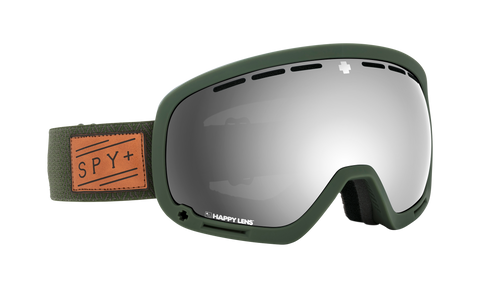 Spy - Marshall Herringbone Olive Snow Goggles / Happy Gray Green Silver Spectra Happy Yellow Lucid Green Lenses