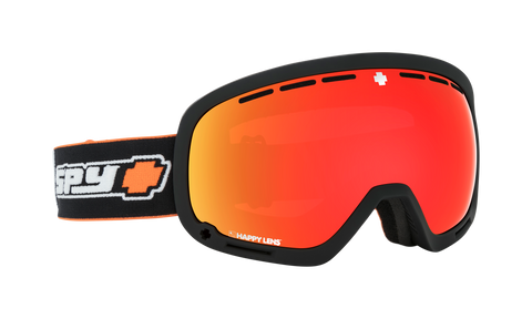 Spy - Marshall Old School Black Snow Goggles / Happy Gray Green Red Spectra Happy Persimmon Lucid Silver Lenses
