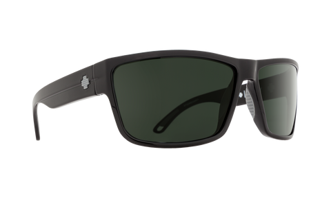 Spy - Rocky Matte Black Sunglasses / HD Plus Gray Green Lenses