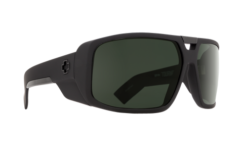 Spy - Touring Soft Matte Black Sunglasses / Happy Gray Green Polarized Lenses