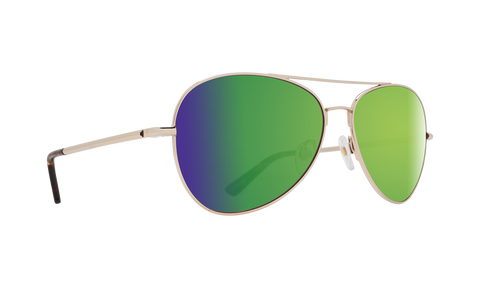 Spy - Whistler Gold Sunglasses / Happy Bronze Green Spectra Lenses