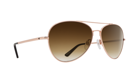 Spy - Whistler Rose Gold Sunglasses / Happy Bronze Fade Lenses