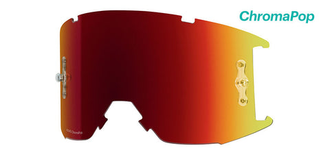 Smith - Squad MTB ChromaPop Sun Red Anti-Fog MX Goggle Replacement Lens