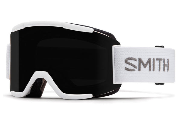 Smith Squad White Goggles, Blackout Lenses