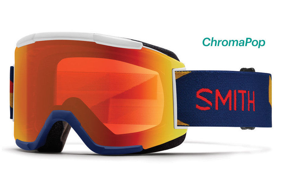 Smith - Squad Navy Outboard Goggles, ChromaPop Everyday Lenses