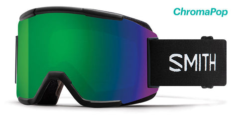 Smith - Squad Black Snow Goggles / ChromaPop Sun Green Mirror Lenses