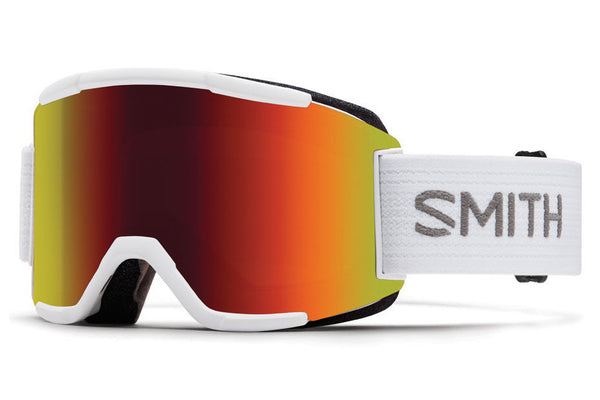 Smith Squad White Goggles, Red Sol-X Mirror Lenses