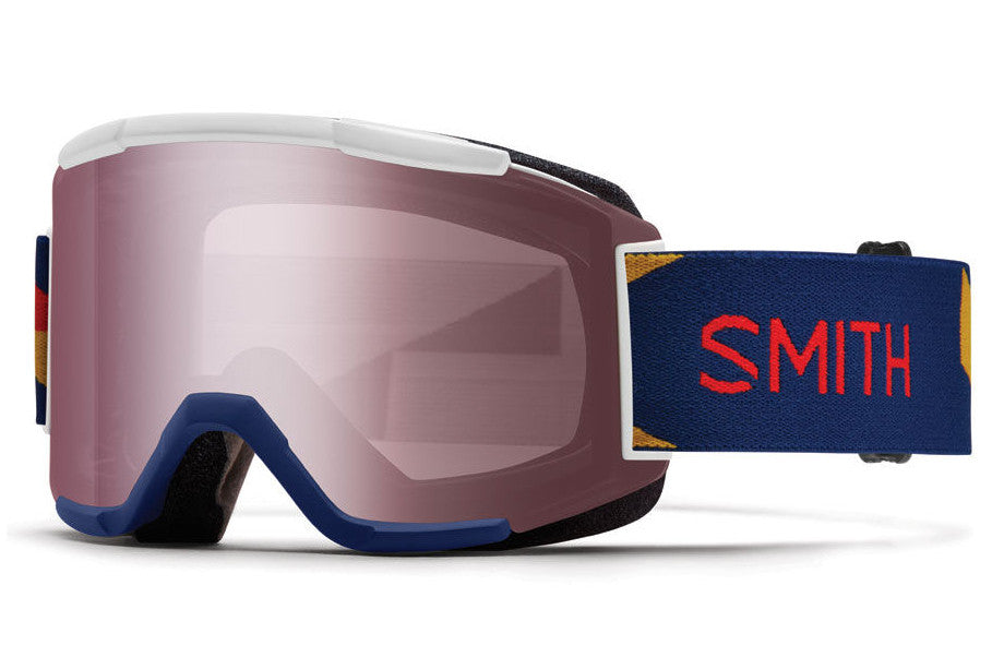 Smith - Squad Navy Outboard Goggles, Ignitor Mirror Lenses