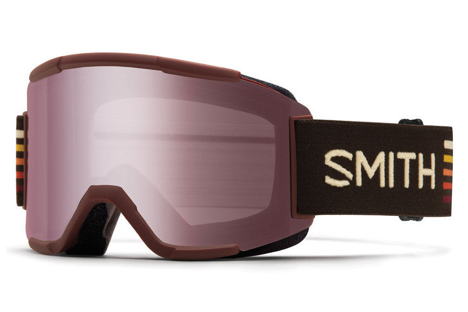 Smith - Squad Oxblood Sunset Goggles, Ignitor Mirror Lenses