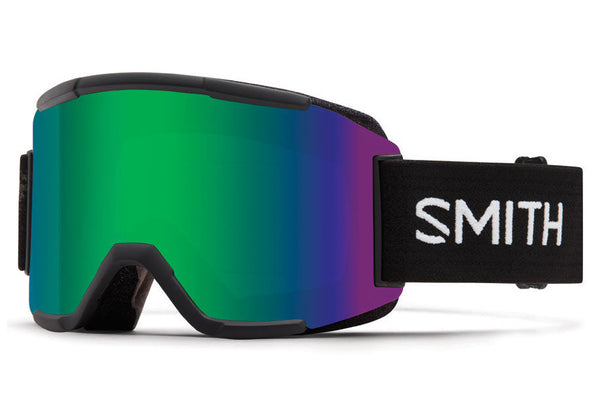 Smith - Squad Black Goggles, Green Sol-X Mirror Lenses