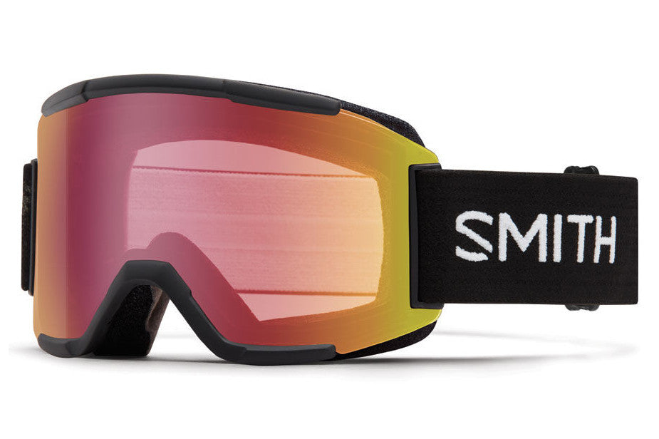 Smith - Squad Black Goggles, Red Sensor Mirror Lenses