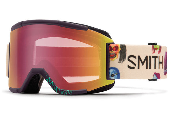 Smith - Squad Shadow Purple Creature Goggles, Red Sensor Mirror Lenses
