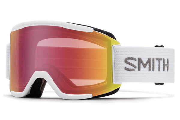 Smith - Squad White Goggles, Red Sensor Mirror Lenses