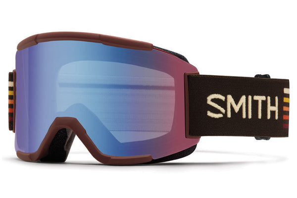 Smith - Squad Oxblood Sunset Goggles, Blue Sensor Mirror Lenses
