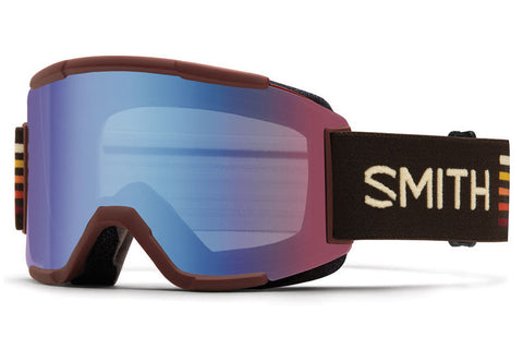 Smith - Squad Oxblood Sunset Goggles, Blue Sensor Mirrorr Lenses