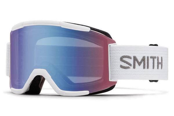 Smith - Squad White Goggles, Blue Sensor Mirror Lenses