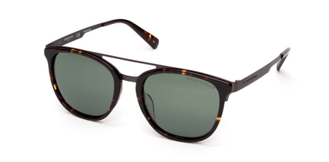 Kenneth Cole - KC7225 Dark Havana Sunglasses / Green Polarized Lenses