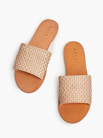 ABLE - Oliveira Woven Veg Tan Sandals
