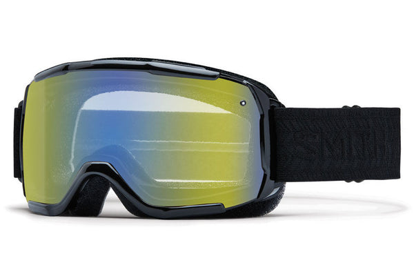 Smith - Showcase OTG Black Eclipse Goggles, Yellow Sensor Mirror Lenses
