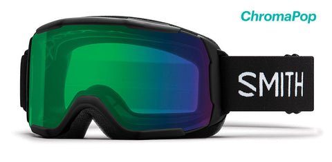 Smith - Showcase OTG Black Snow Goggles / ChromaPop Everyday Green Mirror Lenses