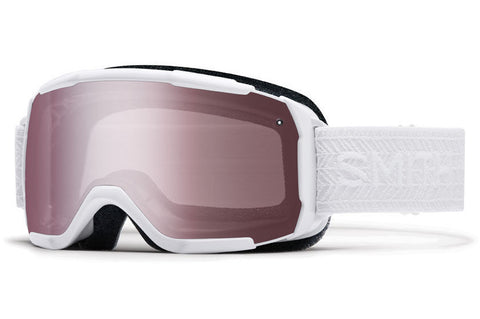 Smith - Showcase OTG Asian Fit White Eclipse Goggles, Ignitor Mirror Lenses
