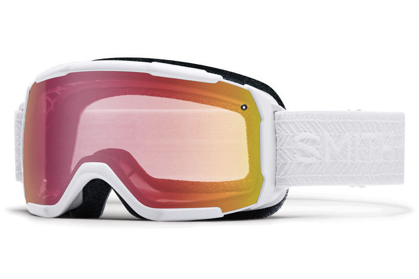 Smith - Showcase OTG White Eclipse Goggles, Red Sensor Mirror Lenses