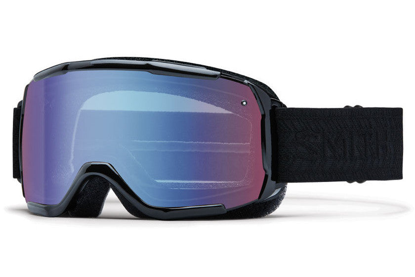 Smith - Showcase OTG Black Eclipse Goggles, Blue Sensor Mirror Lenses