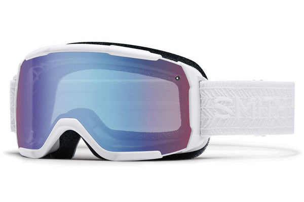 Smith - Showcase OTG White Eclipse Goggles, Blue Sensor Mirror Lenses