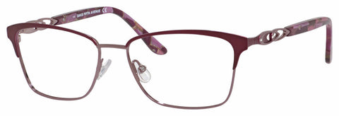 Saks Fifth Avenue - Saks 298 55mm Plum Eyeglasses / Demo Lenses