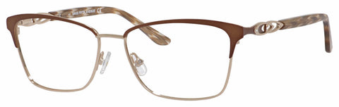 Saks Fifth Avenue - Saks 298 55mm Brown Eyeglasses / Demo Lenses