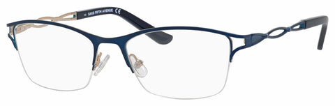 Saks Fifth Avenue - Saks 299 54mm Navy Eyeglasses / Demo Lenses