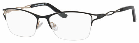 Saks Fifth Avenue - Saks 299 54mm Black Gold Eyeglasses / Demo Lenses